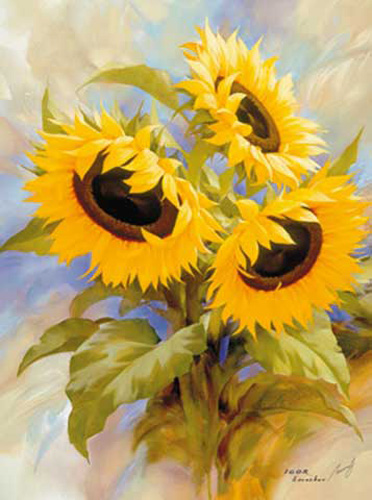 Igor Levashov - Kunstdruck / Art Poster - Sunflowers