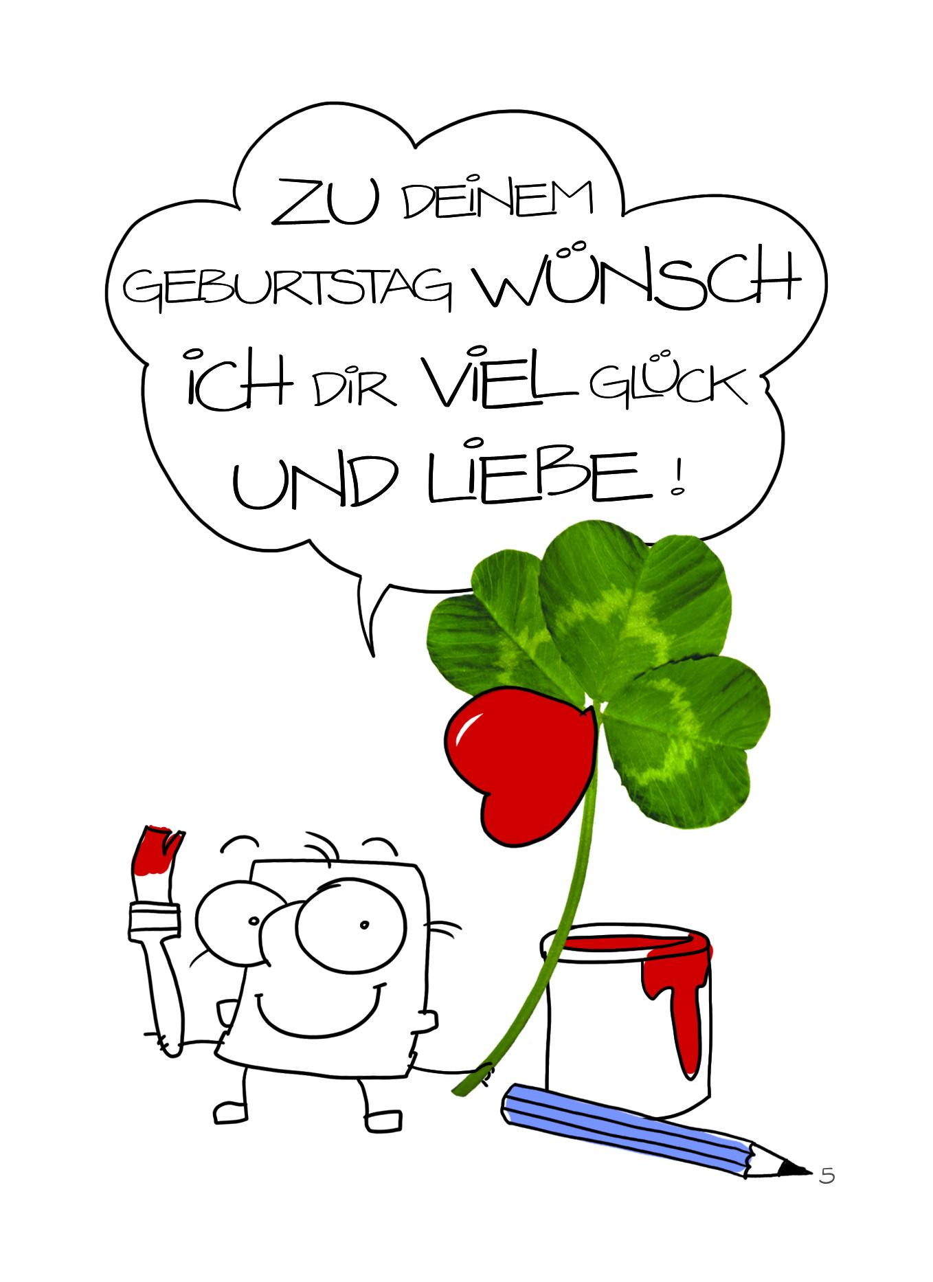 Grimmis - Geburtstag: Viel Glück Klee - Postkarte - 10 ...