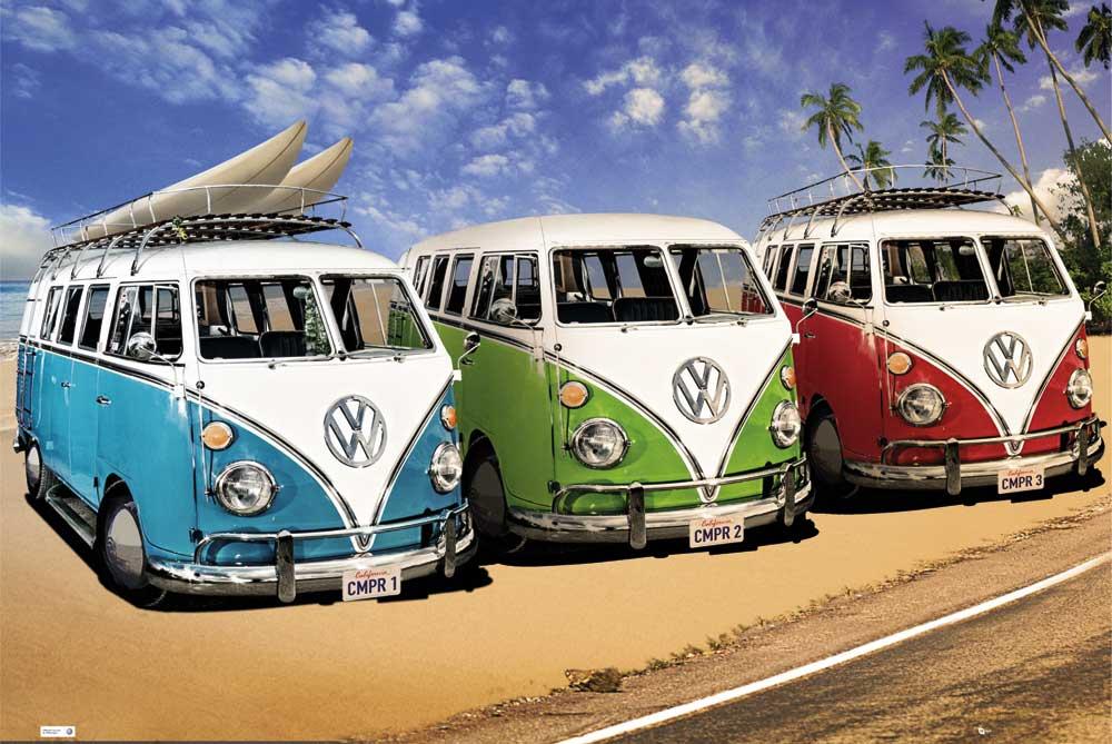 Volkswagen - VW Bus 3 Camper - Poster - 91,5x61