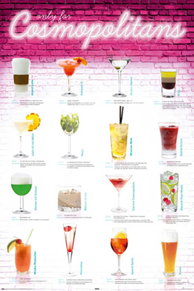 Drinks - Poster - Cosmopolitans