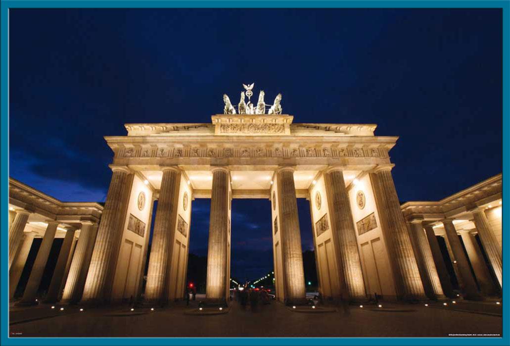 Deutsche st dte berlin brandenburger tor bei nacht st dte poster druck ebay - Deutsche architektur ...