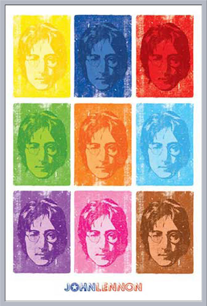 Lennon NYC Profile John Musik Plakat Poster Druck Größe 61x91,5 cm