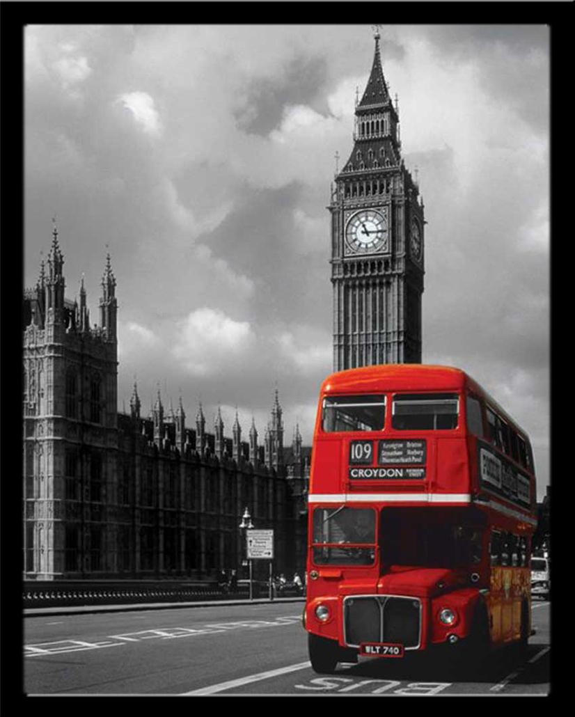 london roter bus colourlight line 109 st dte mini poster ebay. Black Bedroom Furniture Sets. Home Design Ideas