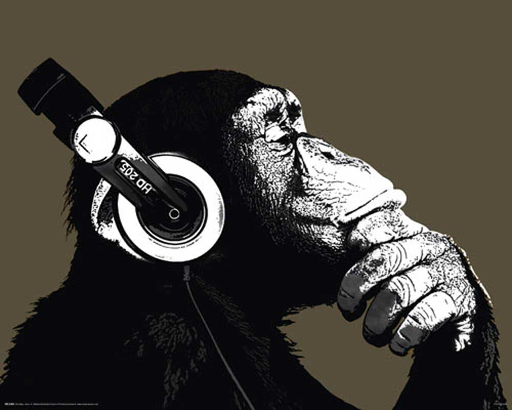 The Chimp - Stereo - Mini-Poster - 50x40