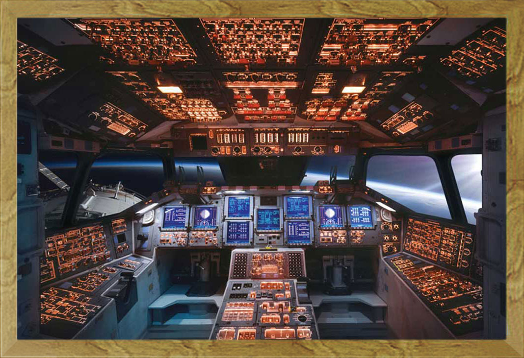 space shuttle cockpit poster - photo #23