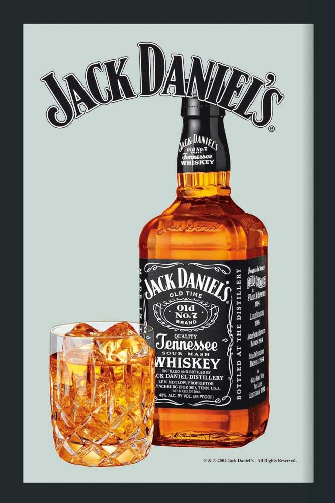 Jack Daniels - Flasche - Bedruckter Spiegel - 20x30