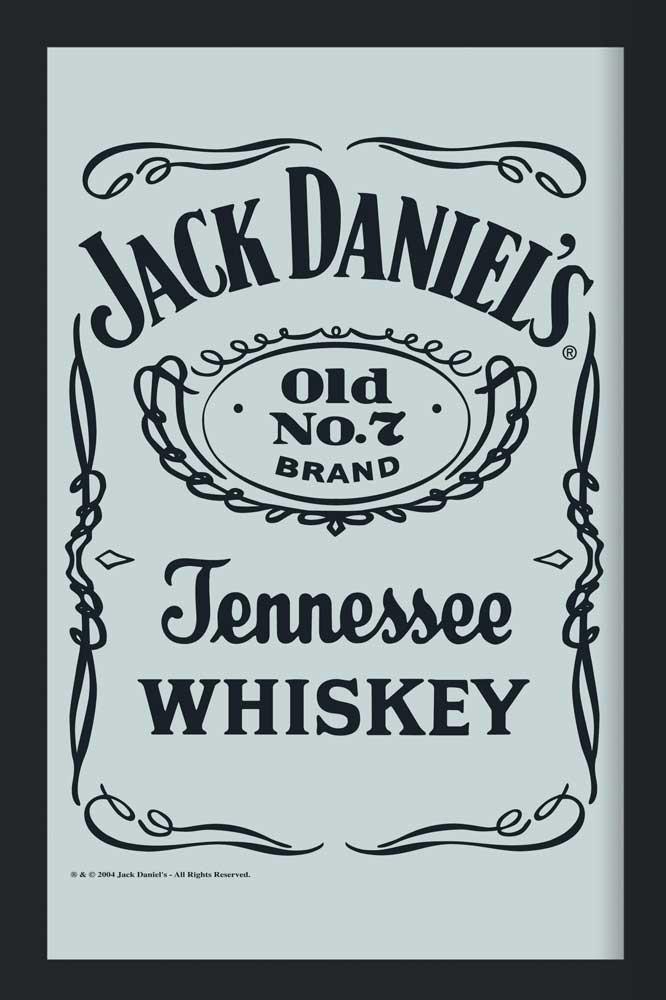 Jack Daniels - Logo 2 - Bedruckter Spiegel - 20x30