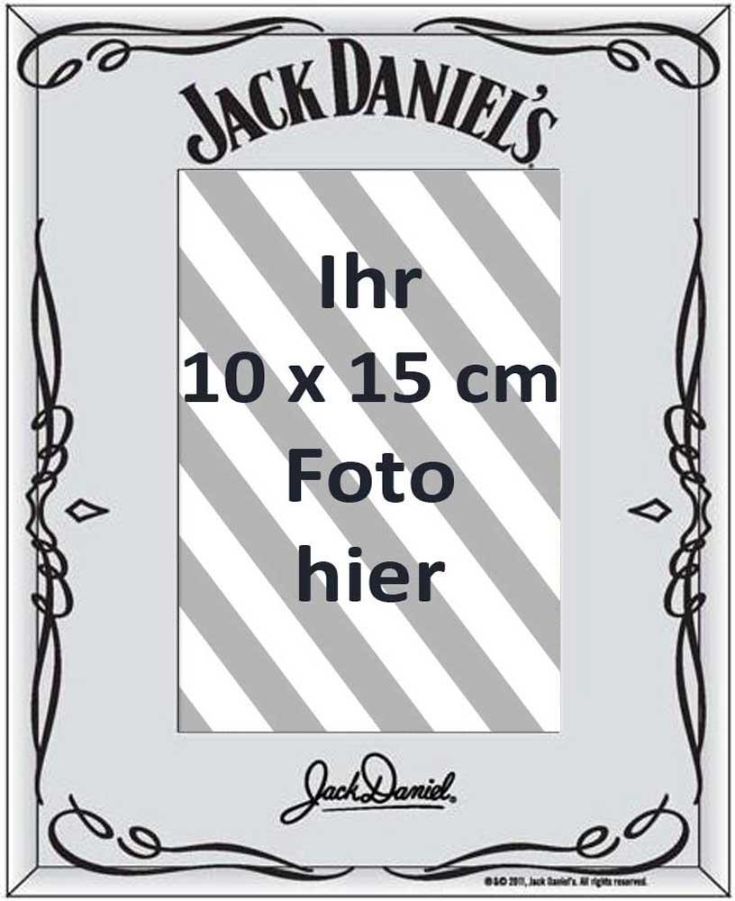 Jack Daniels - Swing Logo - Fotorahmen - Spiegel Fotorahmen - 22,8x17,8