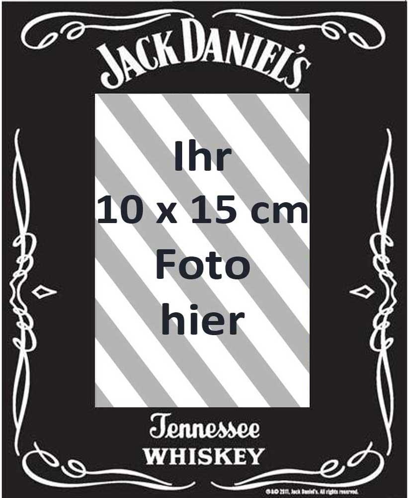 Jack Daniels - Black - Fotorahmen - Spiegel Fotorahmen - 22,8x17,8