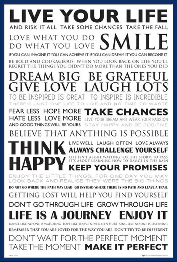 Motivational Live Your Life Zitate Spruche Motivationsposter
