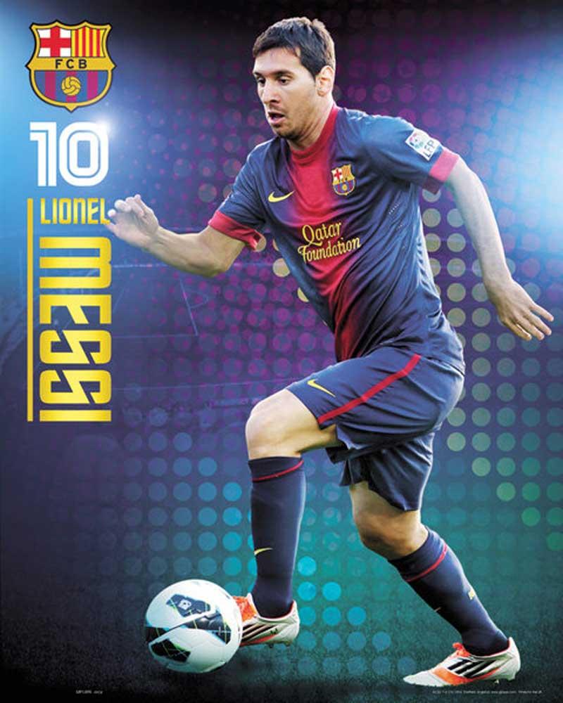 fußball  barcelona  messi  miniposter  40x50