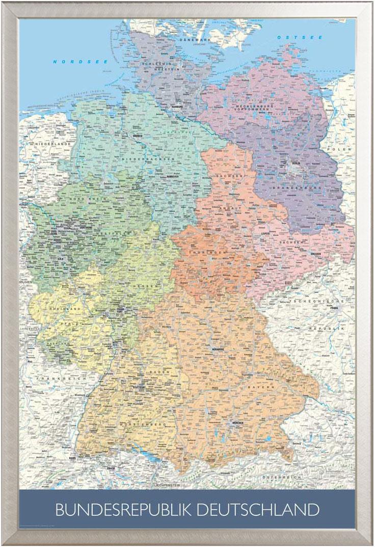 Landkarten Politische Deutschlandkarte Massstab 1 1 Mio Poster