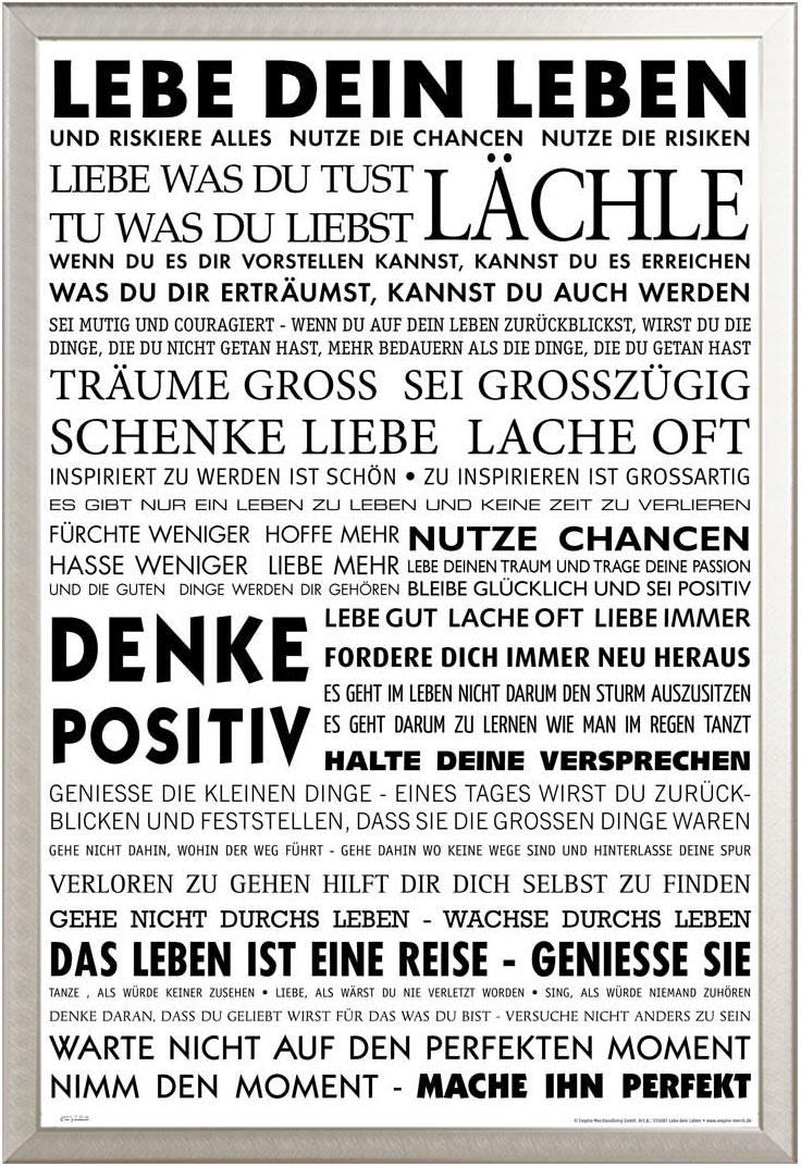 motivational - lebe dein leben - poster - 61x91,5