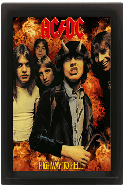 AC/DC - 3D Poster A4 - Highway to Hell