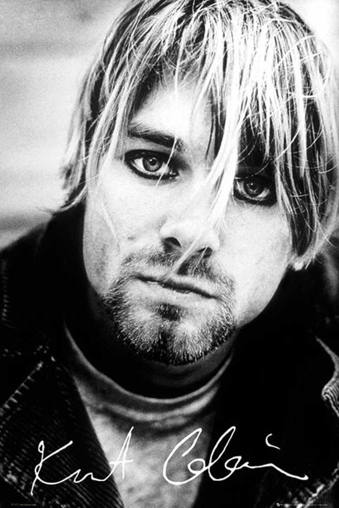 Kurt Cobain Nirvana - Signature - Musik - Poster Druck - Größe 61x91 ...