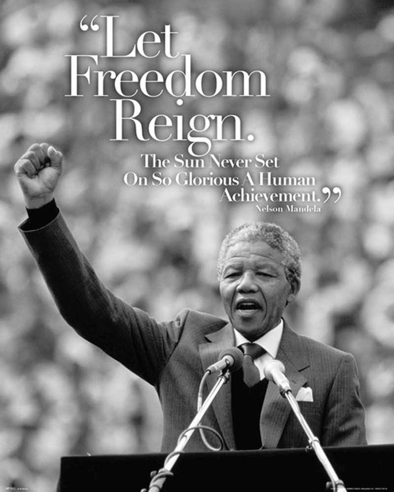 Nelson Mandela - Mini-Poster - Speech