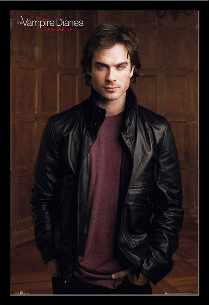 the vampire diaries damon poster 61x91 5. Black Bedroom Furniture Sets. Home Design Ideas