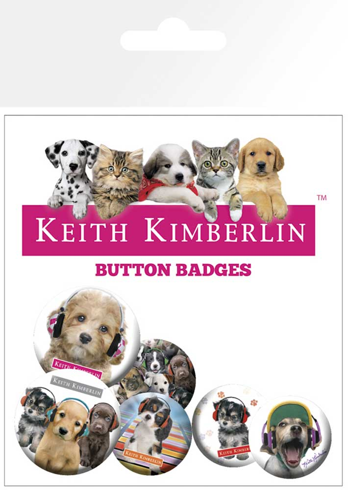 Keith Kimberlin - Button Pack - Puppies Headphones