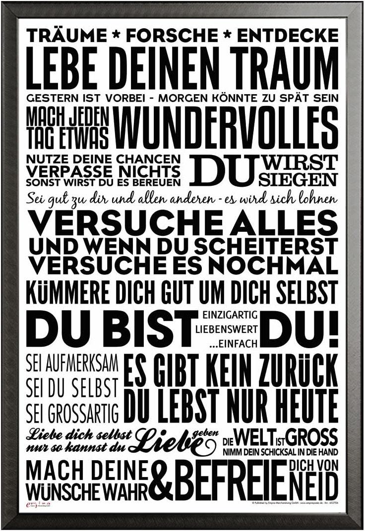 Motivational - Lebe deinen Traum - Poster Druck - Größe 61x91,5 cm ...