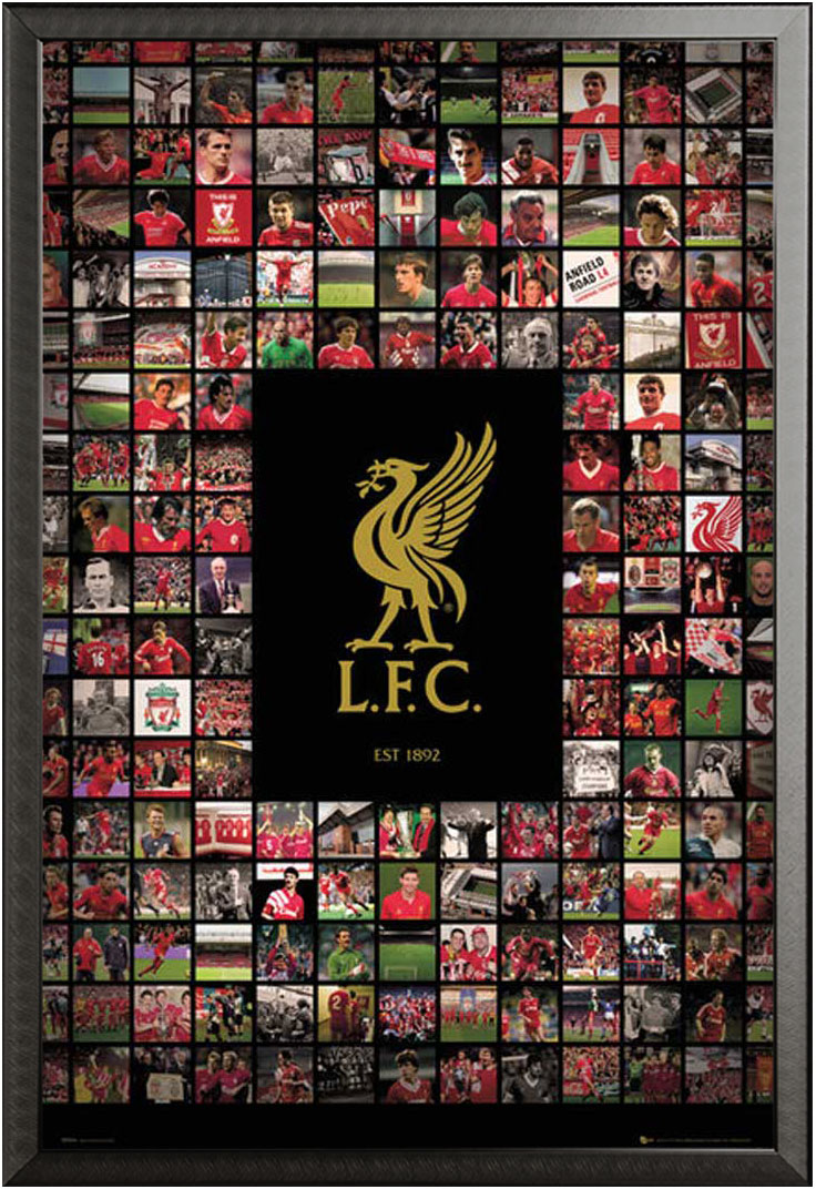fußball  liverpool  compilation  poster  61x915