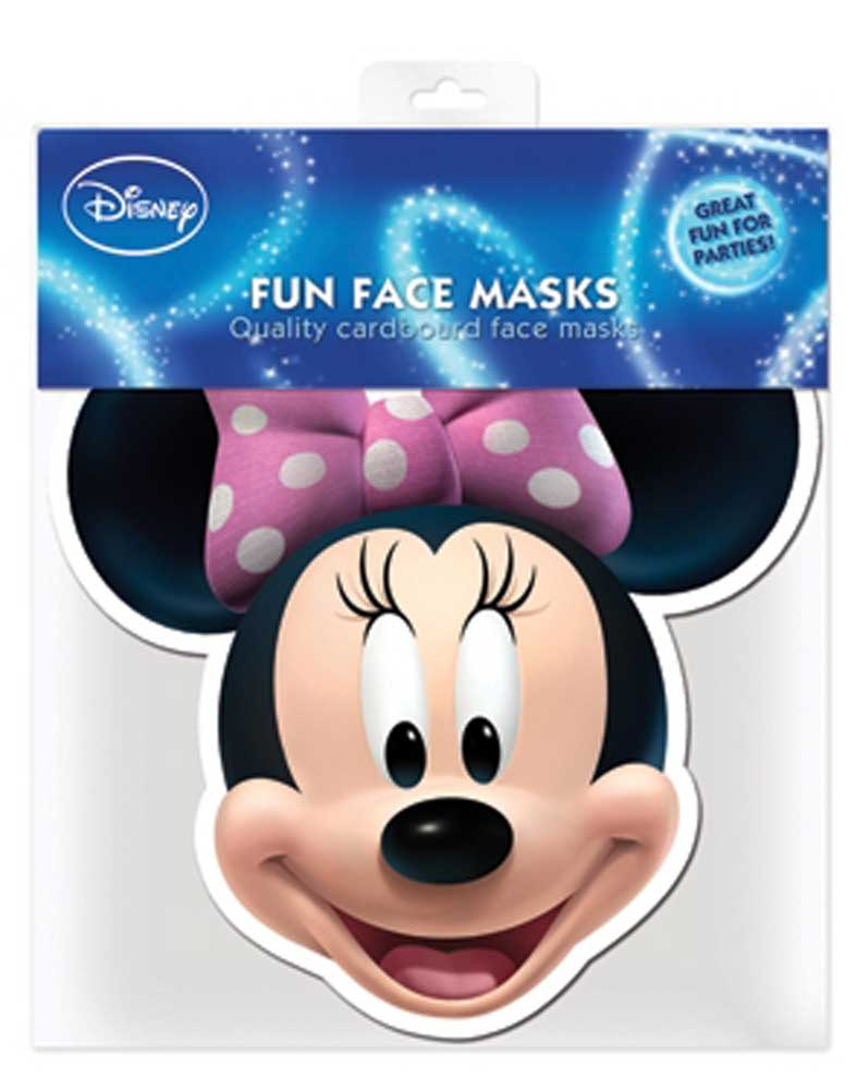 Mickey Mouse - Minnie Mouse - Maske - Papp-Masken - ca. 30x20