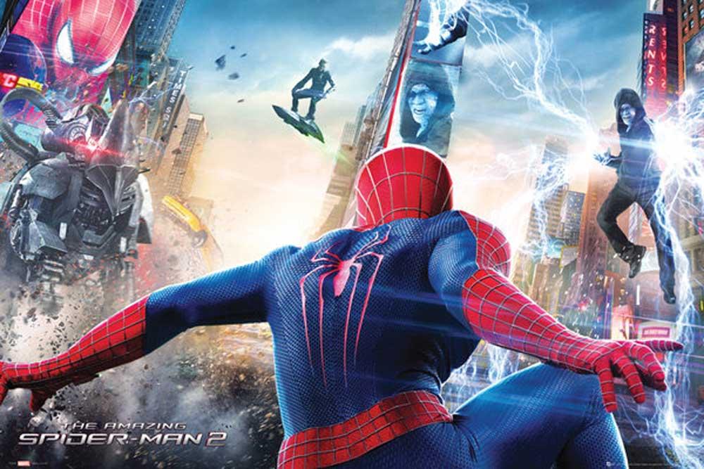 Spider Man The Amazing Spider Man 2 Attack Poster 91 5x61