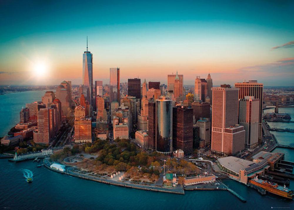 New York Freedom Tower Manhattan Giant Poster 140x100
