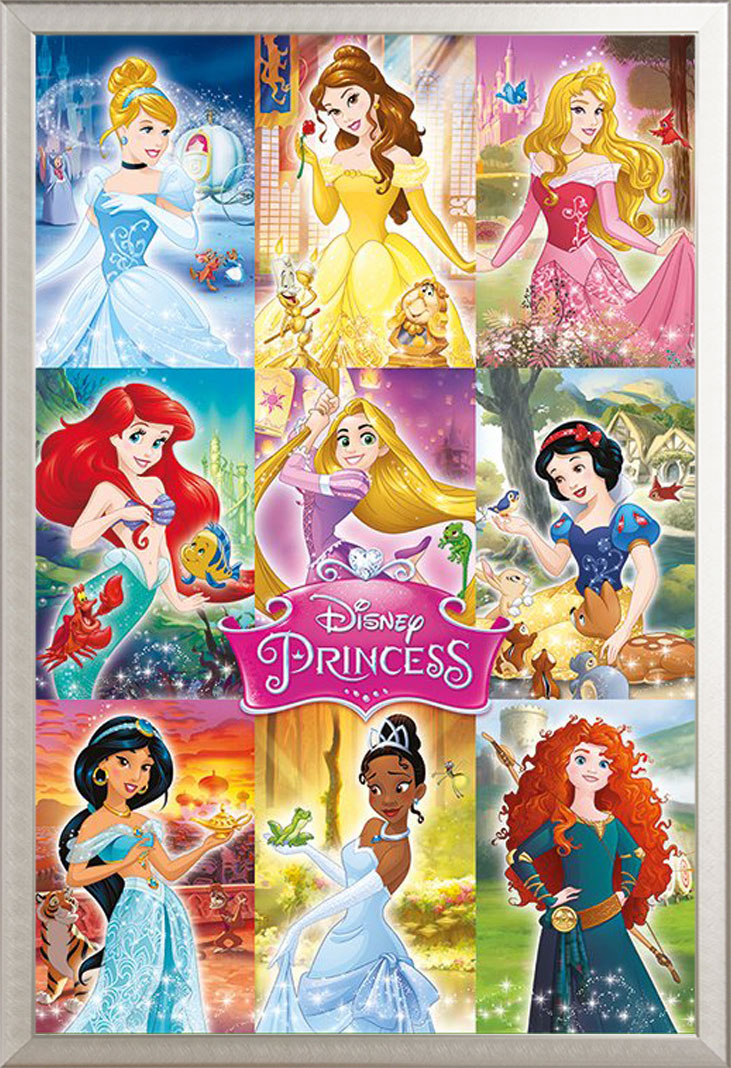 Disney - Princess - Collage - Prinzessin Kinder Poster Druck - Größe ...