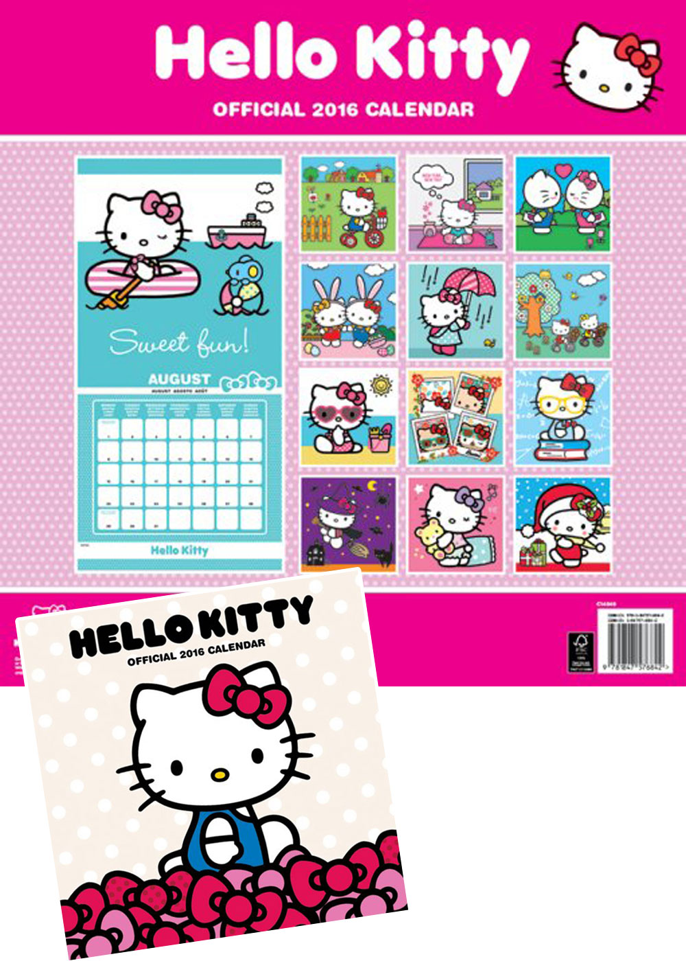hello kitty offizieller comic kalender 2016 kalender 30x30. Black Bedroom Furniture Sets. Home Design Ideas