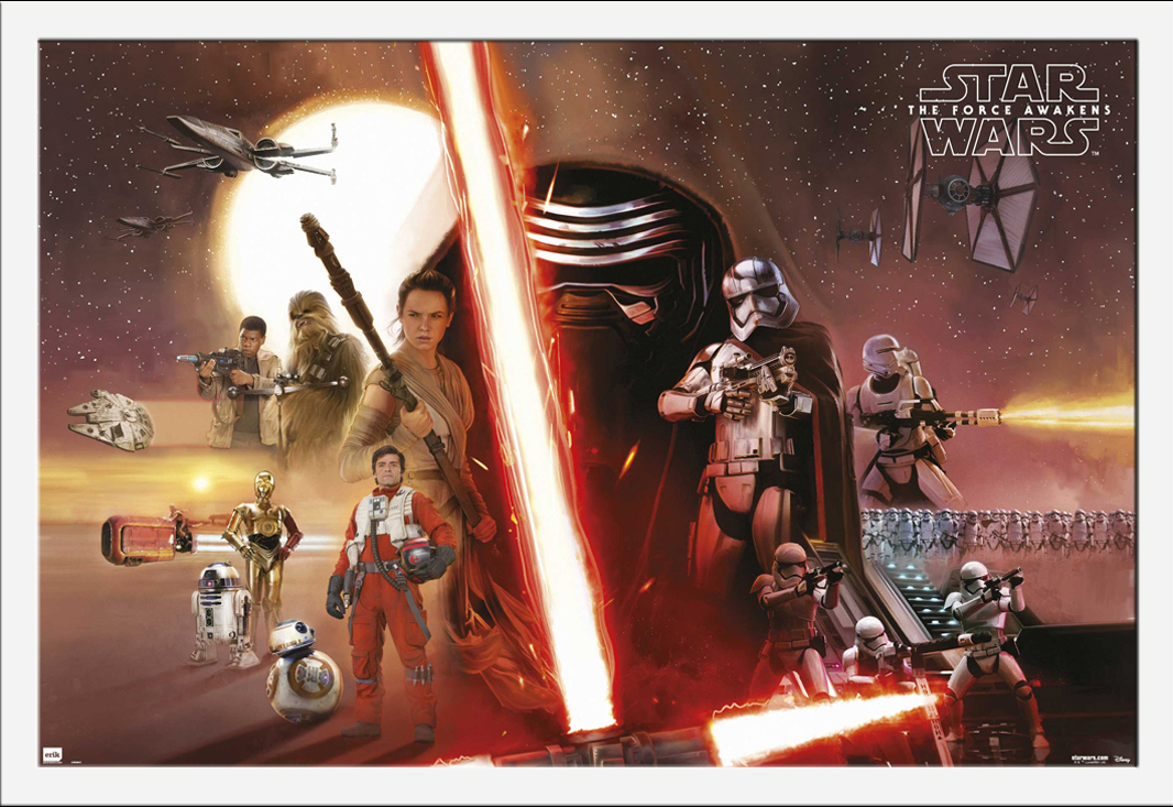 Star Wars EP7 All Characters Episode7 Poster Plakat Größe 91,5x61 | eBay