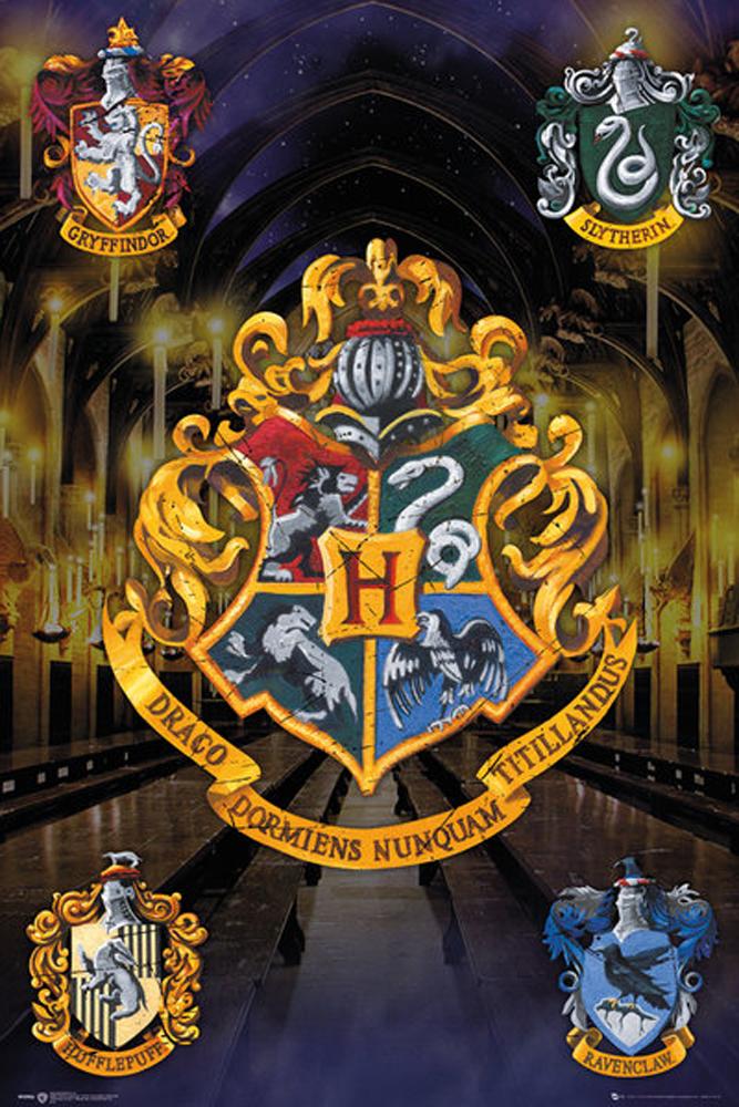 harry potter hogwarts wappen poster 61x91 5. Black Bedroom Furniture Sets. Home Design Ideas