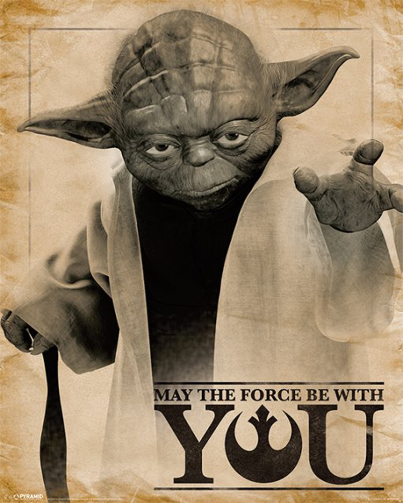 Star Wars - Classic Yoda, May The Force Be With You - Mini-Poster ...