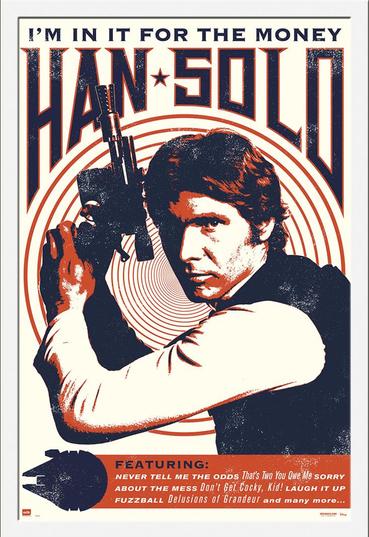 Details zu Star Wars Han Solo Rock Poster Plakat Größe 61x91,5cm