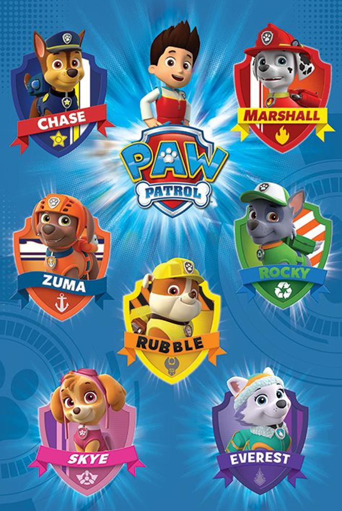Paw Patrol - Crests - Poster - 61x91,5