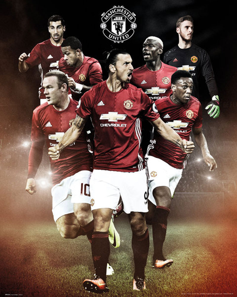 Manchester United - Mini-Poster - Fußball - Players 16/17
