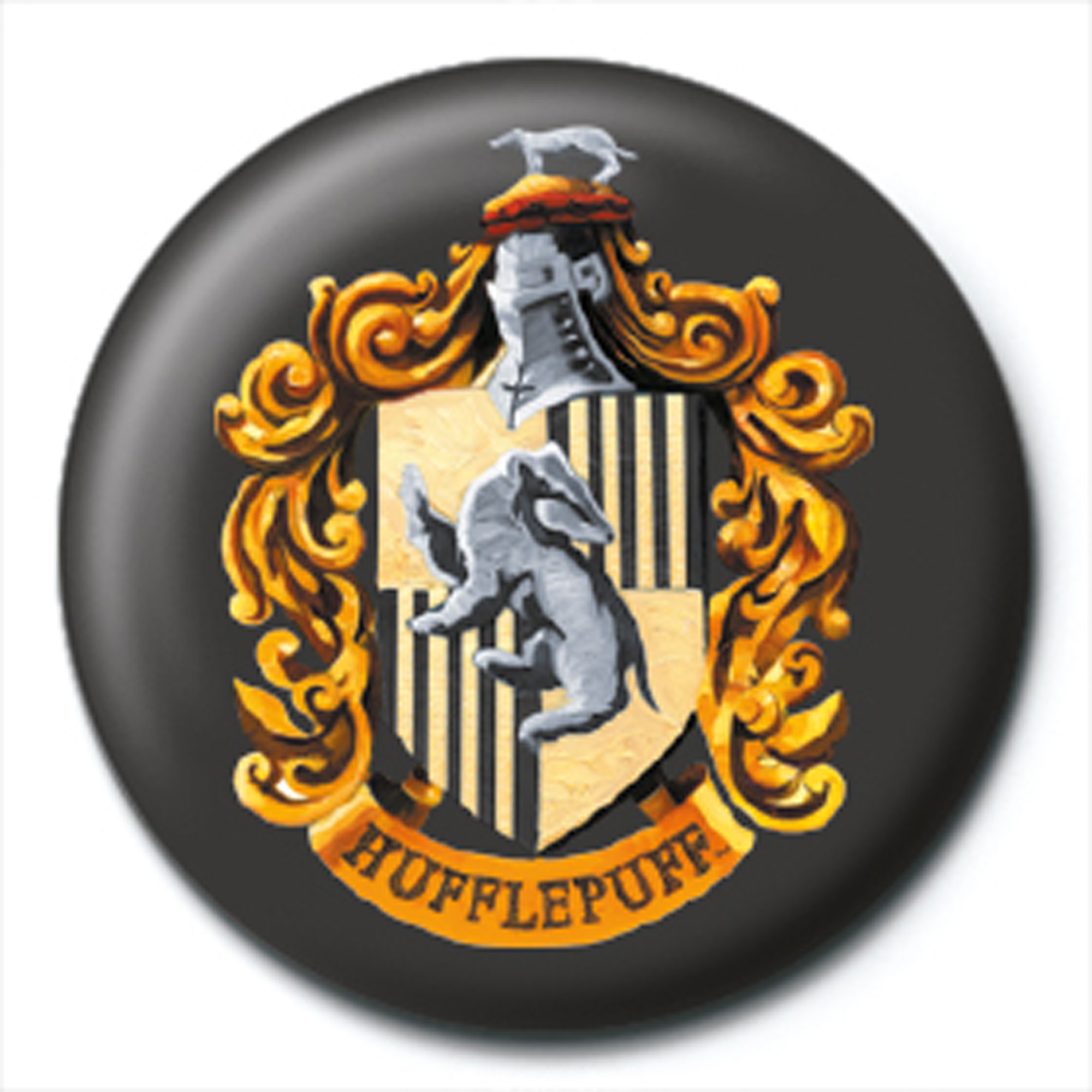 Harry Potter - Button Badge - Hufflepuff Crest