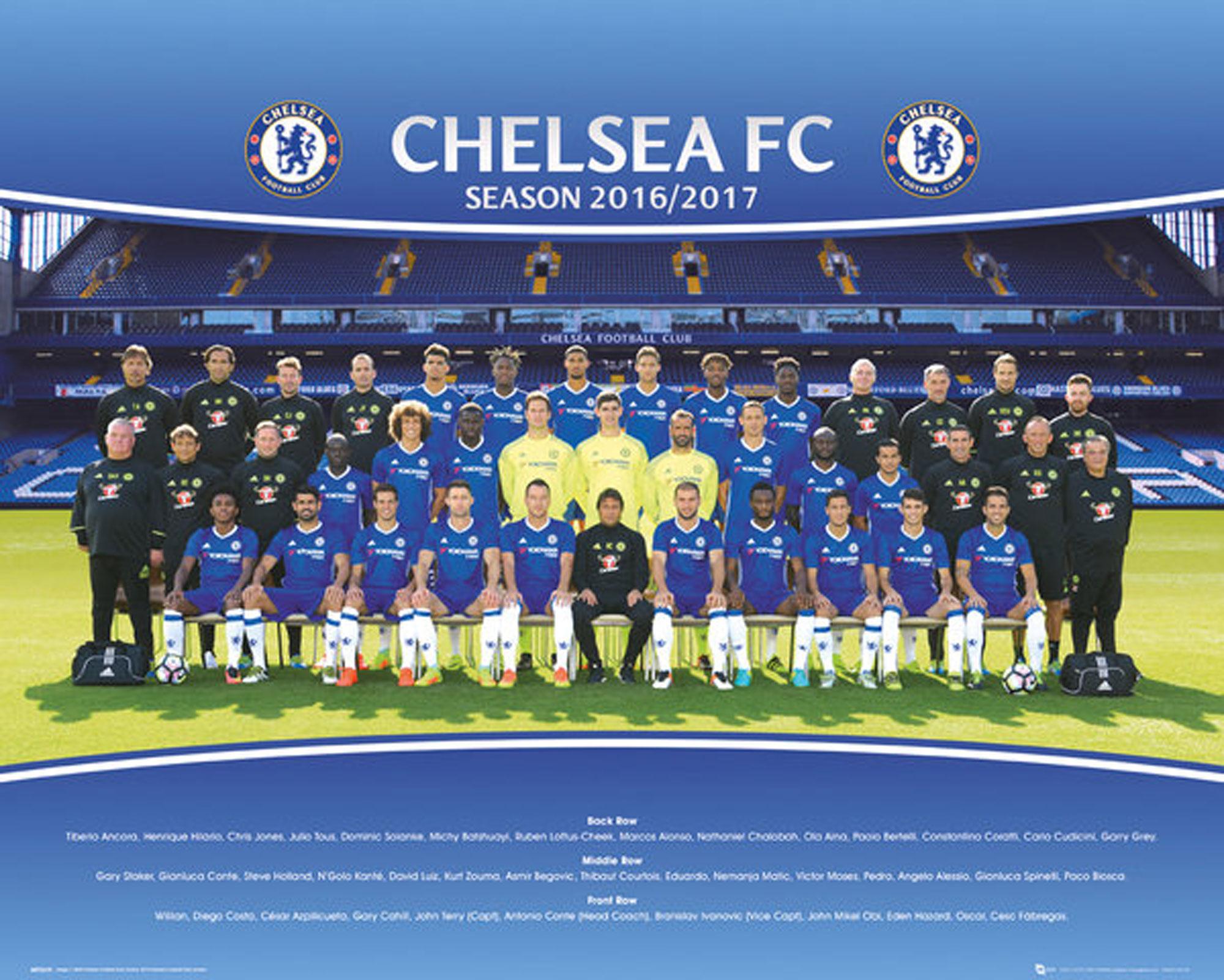 Chelsea FC - Team Photo 16/17 - Mini-Poster - 50x40