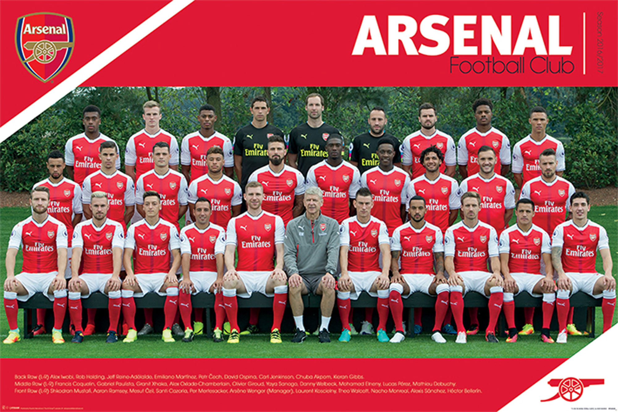 Arsenal FC - Poster - Team 16/17
