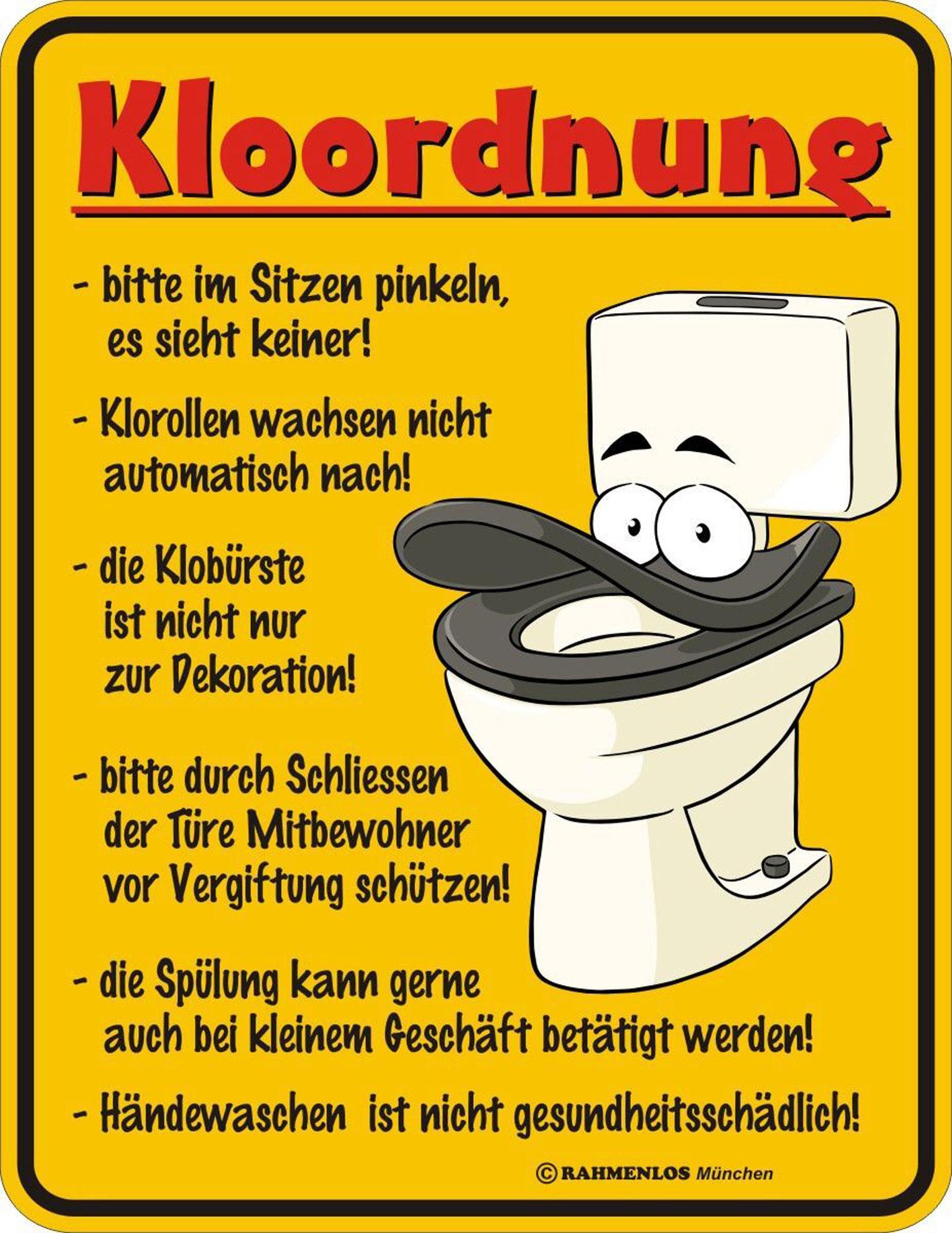 Bad spr che kloordnung magnete 7x9 - Badezimmer comic ...