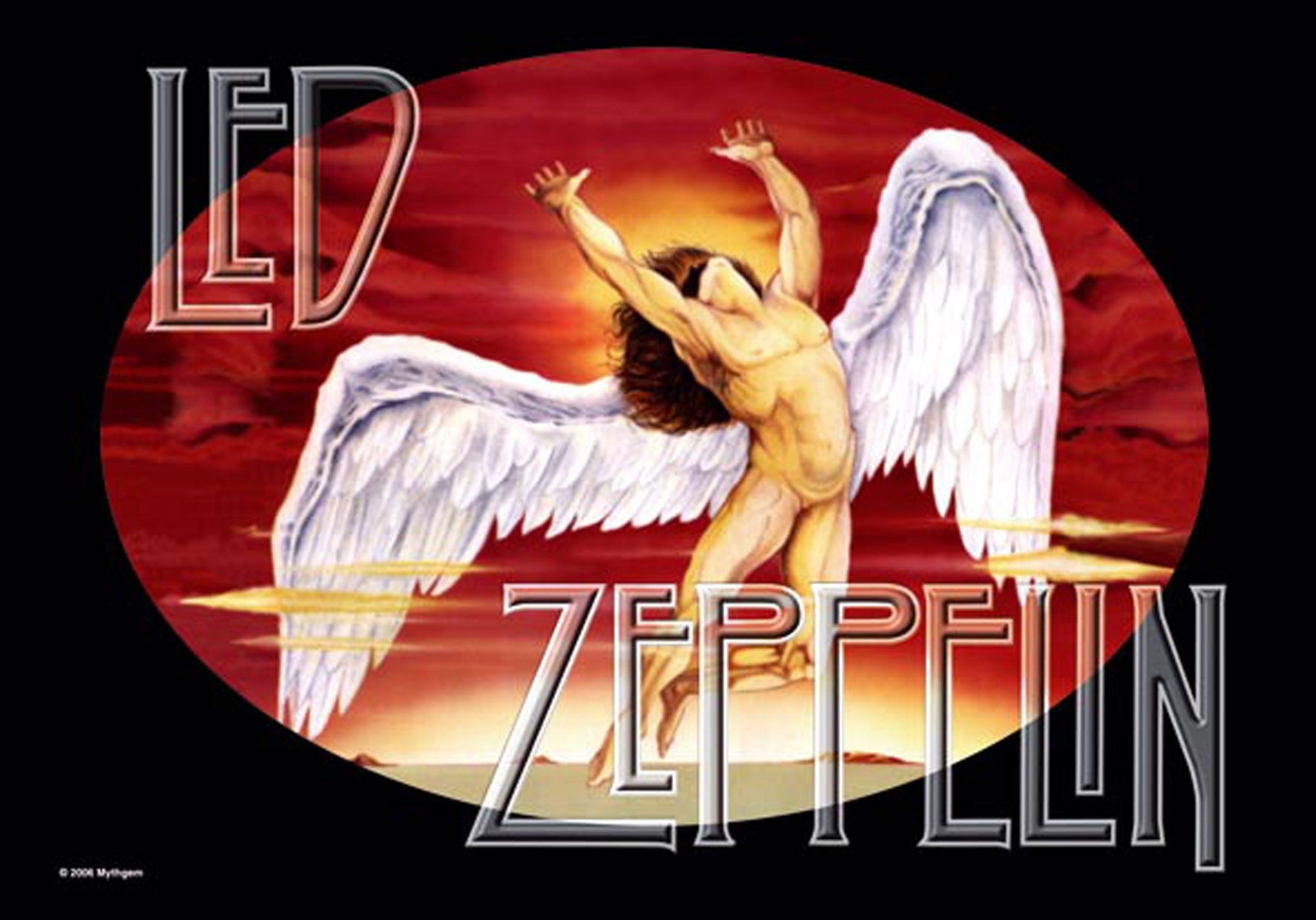 Led Zeppelin - Posterflagge - Icarus