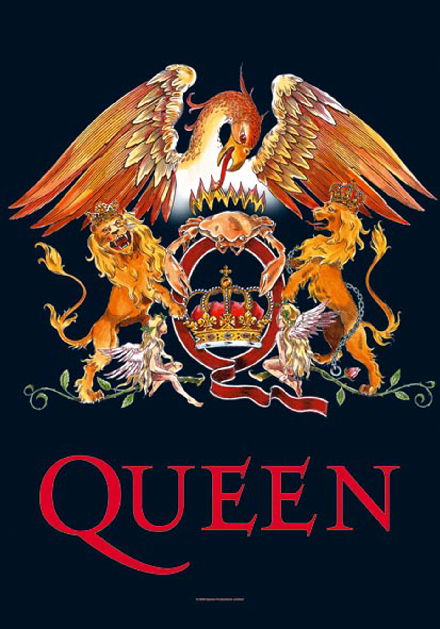 Queen - Posterflagge - Crest