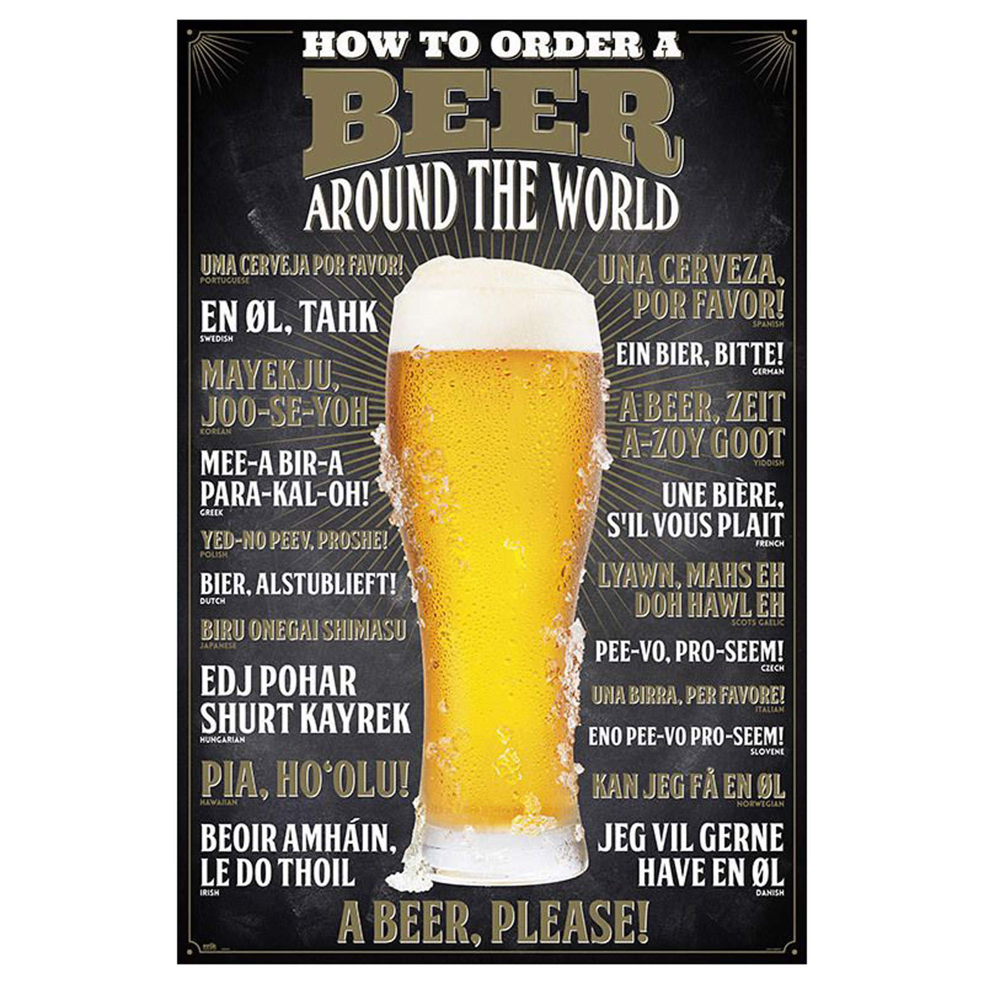 Beer - Poster - How to order - Around the World