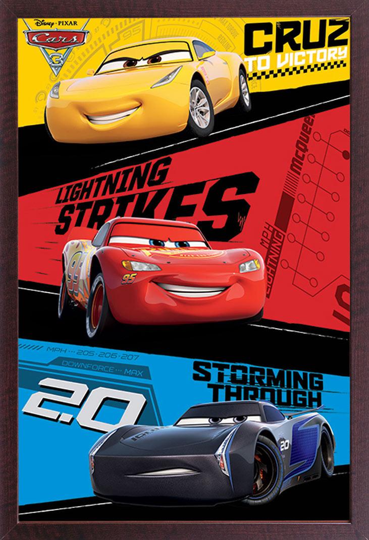 Disney Cars 3 Trio Film Kino Movie Poster Plakat Druck Grosse