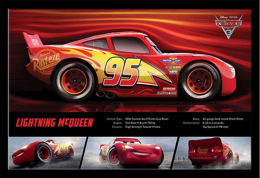 Cars 3 Lightning Mcqueen Poster 61x915
