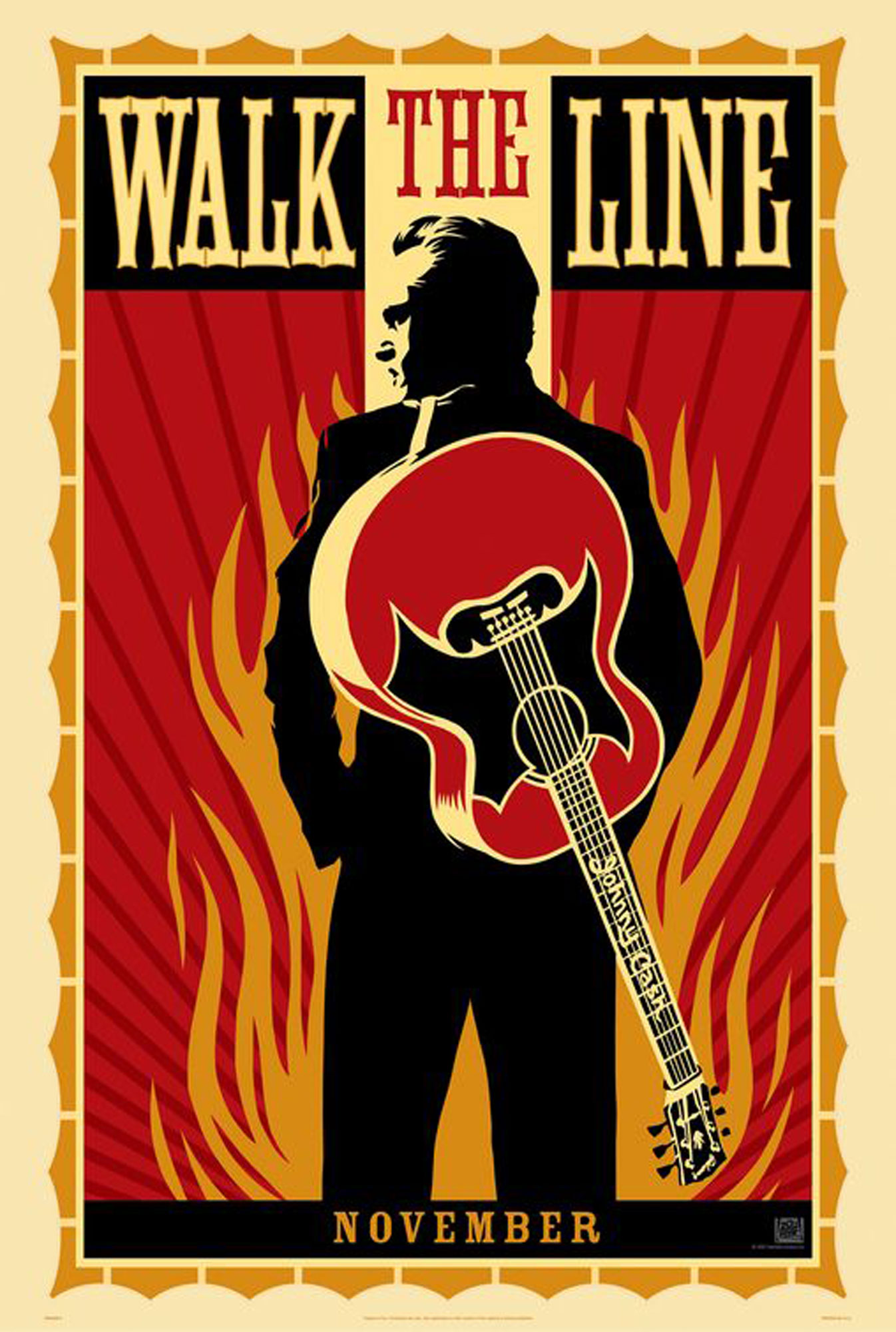 Johnny Cash - Poster - Walk the line