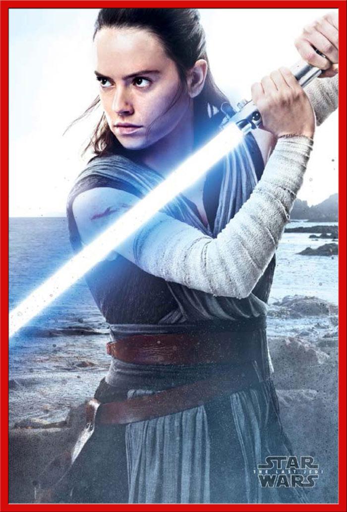 Details zu Star Wars - The Last Jedi - Rey Engage - Poster Plakat - Größe  61x91,5 cm