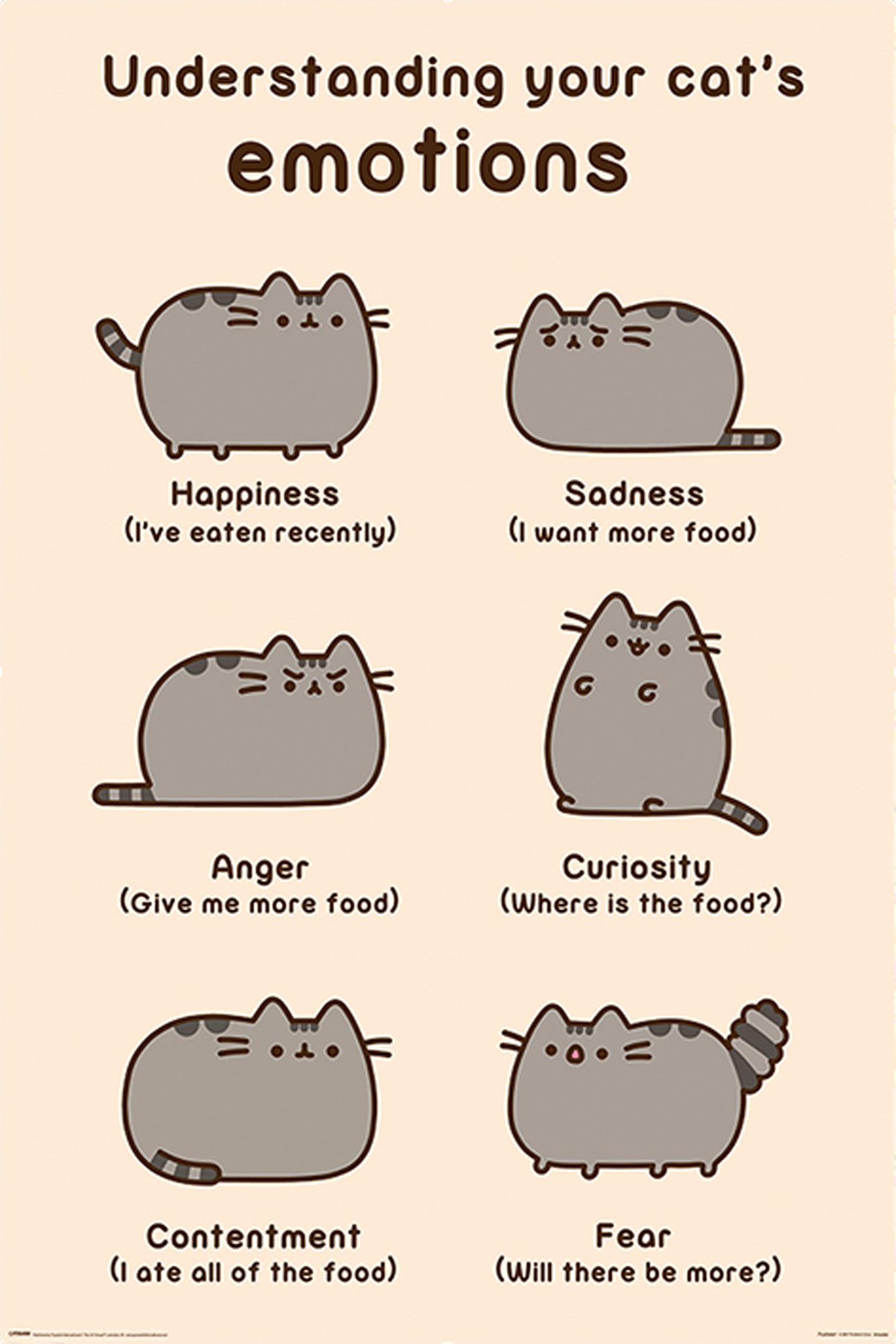 Pusheen - Poster - Cats Emotions