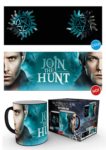 Supernatural - Heat-Changing Mugs - Sam and Dean Symbol