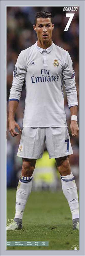 Fußball - Real Madrid - Ronaldo Stand 17/18 ca. Tür-Poster XXL Door ca. 17/18 53x158 cm 92120d