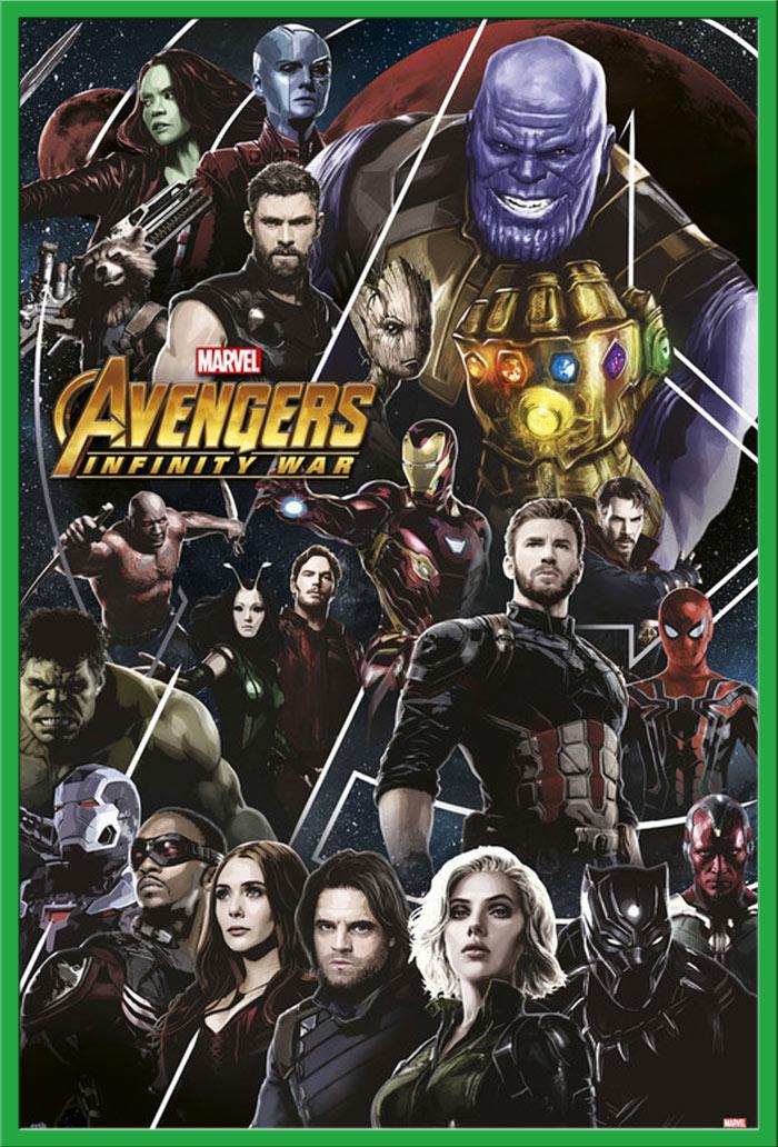 Poster Druck 3er Set Größe 183x91,5 cm Triptychon Avengers Infinity War